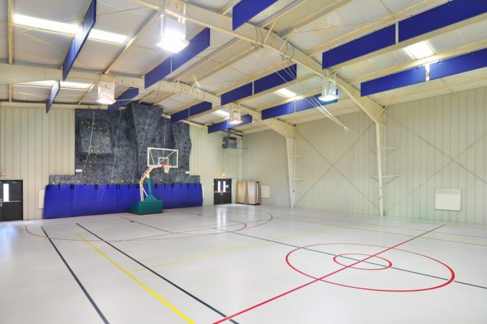gym with basketball court